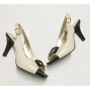 Anne Klein Leather Heels Size 7M